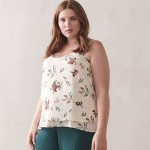 NWT Penningtons Double Layer Floral Tank